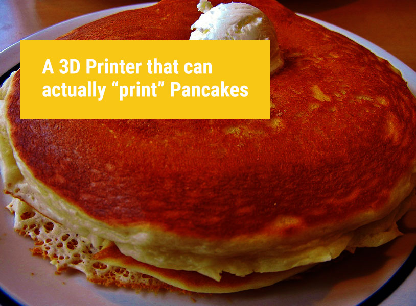 "Introducing PancakeBot: a 3D Printer that can actually ""print"" Pancakes"