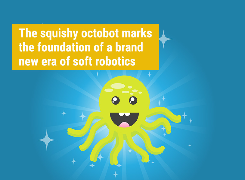 The squishy octobot marks the foundation of a brand new era of soft robotics