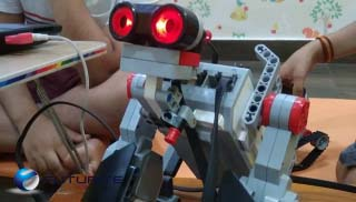 Robots made my kids in Kolkata