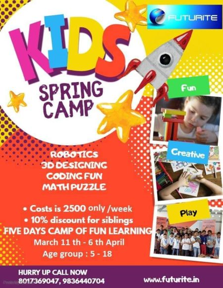 Kids Spring Camp in Kolkata at Futurite Education